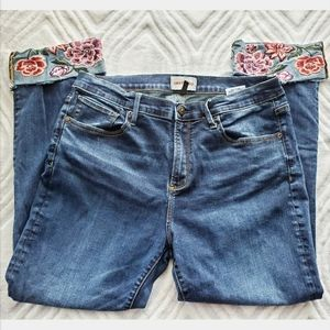 Driftwood Collette Cropped Jeans Sz 33